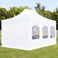 TOOLPORT Faltpavillon 3x4,5m PES 400 g/m² weiß wasserdicht Faltzelt, Klappzelt