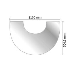 Vorlegeplatte Glas für Kaminofen Austroflamm Clou Xtra