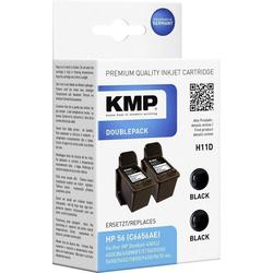 KMP KMP Tintenpatronen 2er-Pack H11D Schwarz 0995,4021 Tintenpatrone