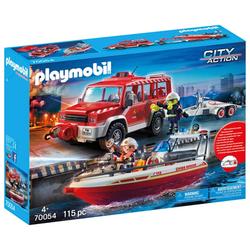 PLAYMOBIL 70054 Feuerwehrfahrzeug mit Schlauchboot