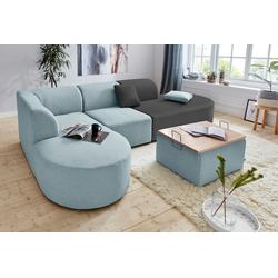 andas Sofa-Eckelement Alesund, als Einzelteile oder Modulteil grau