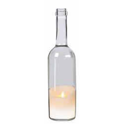 JOKA international LED-Kerze LED-Kerze in Weinflasche, weiß