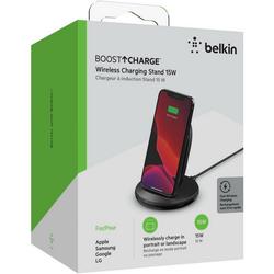 Belkin BoostCharge Wireless Charging Stand 15 W Ladestation (Lader) schwarz