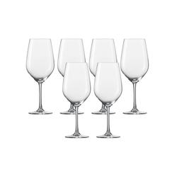 SCHOTT-ZWIESEL Rotweinglas Wasser, Rotweinglas 6er-Set Vina