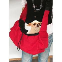 HEIM Tiertransporttasche, BxTxH: 40x20x20 cm rot Hundetransport Hund Tierbedarf Tiertransporttasche