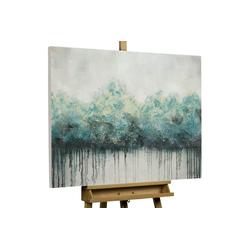 KUNSTLOFT Gemälde Impermeable Forest, handgemaltes Bild auf Leinwand