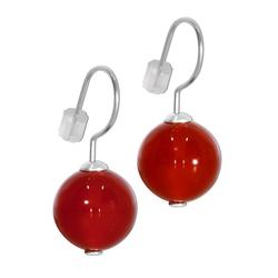 Adelia´s Paar Ohrhänger Karneol Ohrhänger Ohrringe 925 Silber