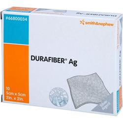 DURAFIBER Ag 5x5 cm Verband 10 St.