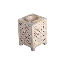 Casa Moro Duftlampe Orientalische Duftlampe Shiva-3 aus Soapstone geschnitzt 8x8x11 cm (B/T/H) ätherisches Öl Diffusor, Teelicht-Halter für Aromatherapie, Aromalampe, SL3090