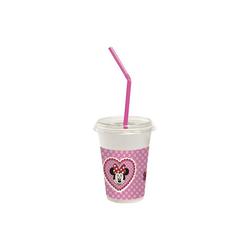 Procos Becher Generic 12 Milchshakebecher (12 Becher, 12 Deckel, rosa