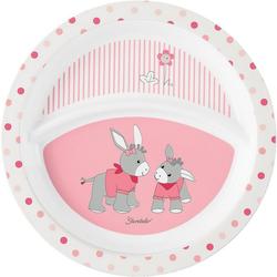 Sterntaler® Teller Esslernteller Emmi Girl, rosa/weiß