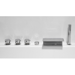Emotion Whirlpool-Badewanne Vita Premium Wellness Whirlpool Set (L/B/H) 145x145x69,5 cm