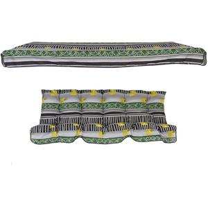 PATIO Auflage mit Sonnendach Parma/Milano 175 cm für 3-Sitzer 4-Sitzer Hollywoodschaukel Polsterauflage Sitzkissen Rückenkissen mit Ersatzdach