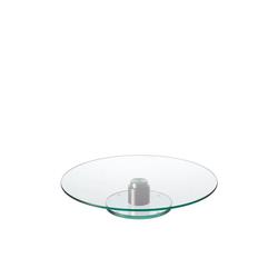 LEONARDO Tortenständer Tortenplatte Turn, Glas, Edelstahl, (1-tlg)