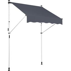 CLP Klemm-Markise Westerly I Ohne Bohren I Höhenverstellbar I UV50+ I Wasserdicht, Farbe:anthrazit, Größe:200x120 cm