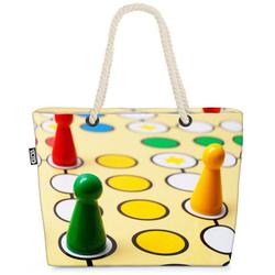 VOID Strandtasche (1-tlg), Gesellschaftsspiel Halma Würfel Gesellschaftsspiel Halma Würfel Mensc