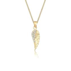 Elli Elli Halskette Flügel  Kristalle Elegant 925 Silber