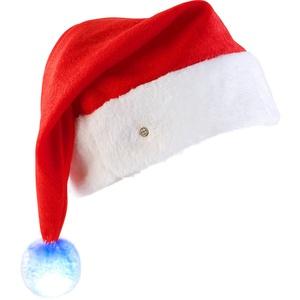 LED-Nikolausmütze mit leuchtendem Bommel, farbwechselnd