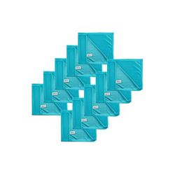 Kochblume Geschirrtuch Poliertuch 50 x 60 cm, (Spar-Set, 10-tlg), 280g/qm Qualtität blau