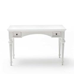 Holz Schreibtisch in Weiß Landhausstil