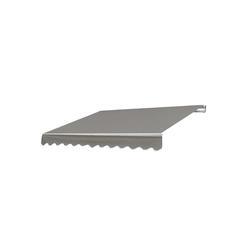 MCW Gelenkarmmarkise MCW-E49 Inklusive Volant, UV-Schutz 50 grau