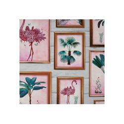 Art for the home Papiertapete Tropische Rahmen, (1 St), 10mx53cm