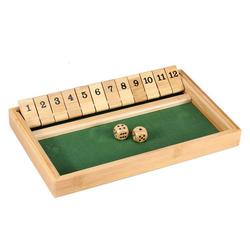 Philos Spiel, Philos Shut the Box aus Bambus - 12er (3271)