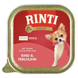 (4,90 EUR/kg) Rinti Gold Mini mit Rind & Perlhuhn 100 g - 16 Stück