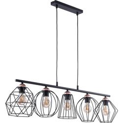 Licht-Erlebnisse Pendelleuchte GALAXY Pendelleuchte Esstisch Schwarz Kupfer Metall Esstisch Lampe