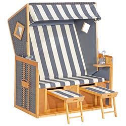 Sonnen Partner Strandkorb Rustikal 105 Z XL TOPSELLER beige Strandkörbe Gartenmöbel Gartendeko