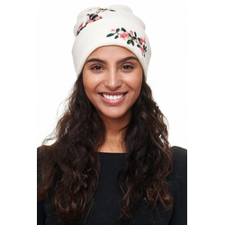 ANELY Beanie 2127 Damen Beanie FLOWER BIRD One Size