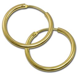 GoldDream Paar Creolen D2GDOB00018K GoldDream Echtgold Ohrringe Creolen (Creolen), Damen Creolen Ohrring aus 333 Gelbgold - 8 Karat, Ø 17,5mm