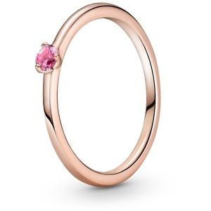 Pandora 189259C03 Damen-Ring Pinkfarbener Solitaire, 54/17,2
