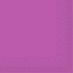Mank Servietten aus Tissuewatte, 25 x 25 cm, 1/4 Falz, 3-lagig, 1 Karton = 2 x 1200 Stück = 2400 Stück, violett