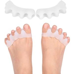 2 Paar Silikon Zehenspreizer alle Zehen Hallux Valgus Hammerzeh Fußschmerzen