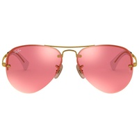 Ray Ban Aviator RB3449 gold / pink flash copper