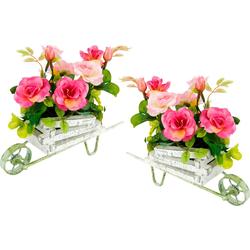 Kunstpflanze Wildrosen, I.GE.A., Höhe 17 cm rosa