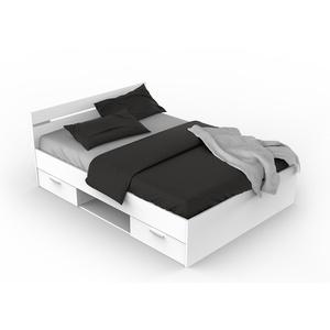 MICHIGAN Bett mit 2 Schubladen, Holz, weiß, 140 x 200 cm
