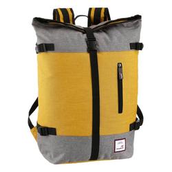 KangaROOS Cityrucksack, mit modischem Roll Top gelb