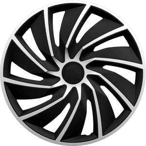 GORECKI 4X Radkappen Turbo Silver Black (14 Zoll)