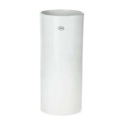 matches21 HOME & HOBBY Blumentopf Vase Keramik weiß hoch rund Blumenvase Ø 16x35 cm (1 Stück) 16 cm x 35 cm