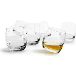 sagaform Whiskyglas Bar Rocking (6-tlg), je 200 ml