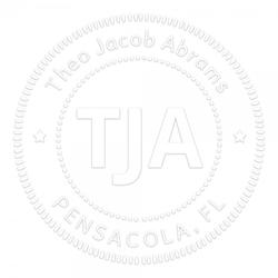 Monogramm-Prägezange 51 mm rund - Gepunktete Kreise