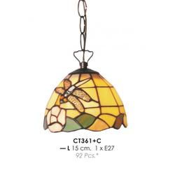 Tiffany Deckenleuchte Durchmesser 15cm CT361 + C Leuchte Lampe