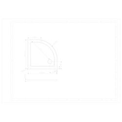 Sanotechnik Duschwanne SMC, rund, Kunststoff, rund, BxT: 80 x 80 cm