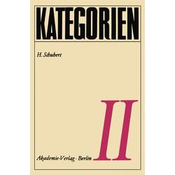 Kategorien II als Buch von H. Schubert