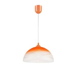 Licht-Erlebnisse Pendelleuchte ADANIA Pendelleuchte Esstisch Orange Weiß retro Hängelampe Lampe