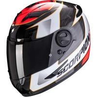 Scorpion Herren NC Motorrad Helm, Schwarz/Weiss/Rot, M