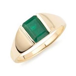 Ring Smaragd ca. 1,15ct Smaragdschliff Gold 585