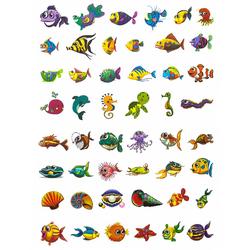 Temporäre Tattoos Klebetattoos Kinder Tattoo Set - Fisch Motive